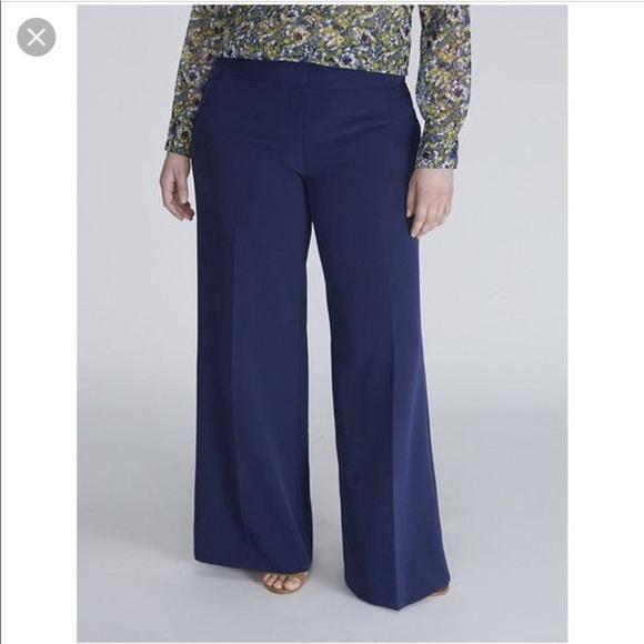 22c15ef975460 Lane Bryant navy wide leg pants(sale)